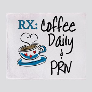 Funny Rx - Coffee Throw Blanket
