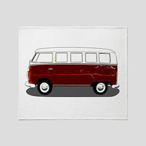 Hippy Bus Throw Blanket