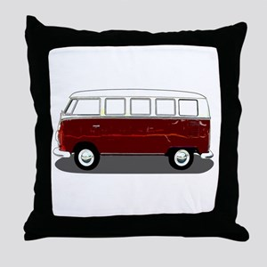 Hippy Bus Throw Pillow