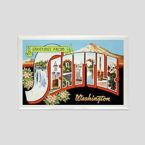 Seattle Washington Greetings Rectangle Magnet