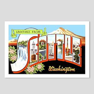 Seattle Washington Greetings Postcards (Package of