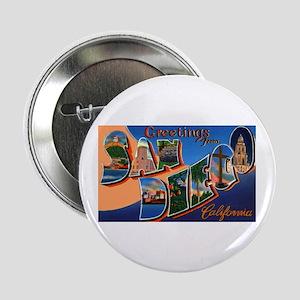 San Diego California Greetings Button