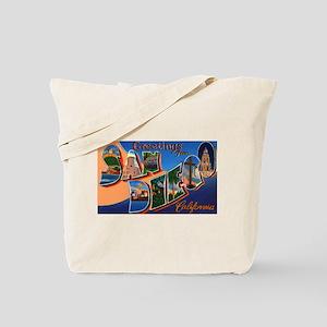 San Diego California Greetings Tote Bag