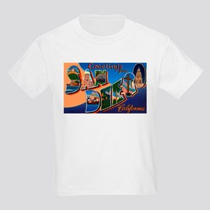 San Diego California Greetings Kids T-Shirt