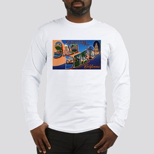 San Diego California Greetings (Front) Long Sleeve