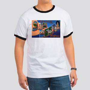 San Diego California Greetings (Front) Ringer T