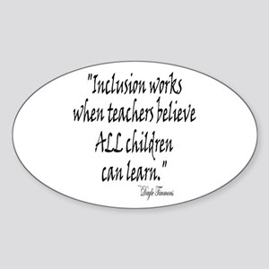 Inclusion Works Oval Sticker