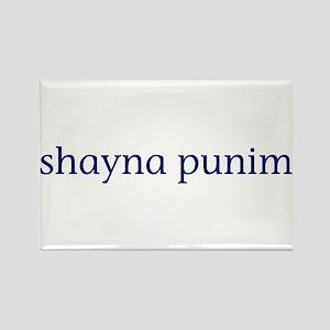 Shayna Punim Rectangle Magnet