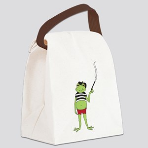 French Frog Canvas Lunch Bag