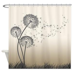 Dandelion Shower Curtains
