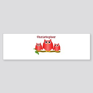 Red Owls Customize Bumper Sticker