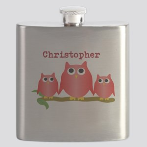 Red Owls Customize Flask