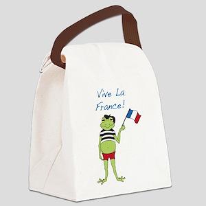 Viva La France Canvas Lunch Bag