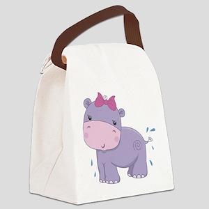 Baby Safari Hippo Canvas Lunch Bag