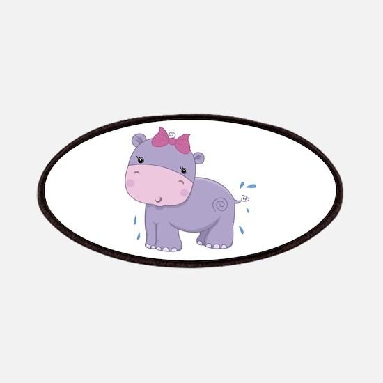 Baby Safari Hippo Patches