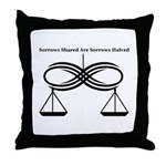 Infinity Scales Throw Pillow