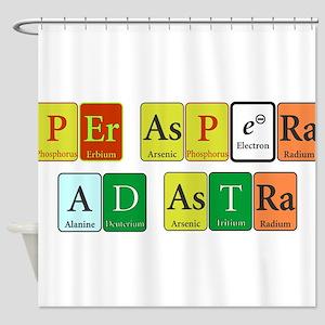 Per Aspera Ad Astra Shower Curtain