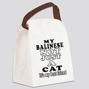 Balinese Cat Designs Canvas Lunch Bag