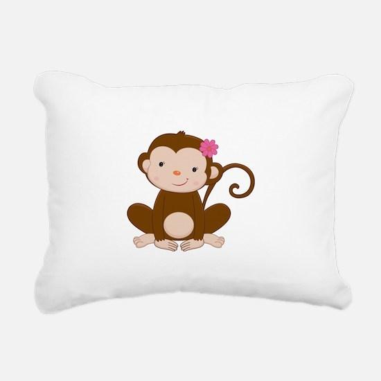 Baby Monkey Rectangular Canvas Pillow
