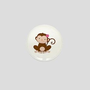 Baby Monkey Mini Button