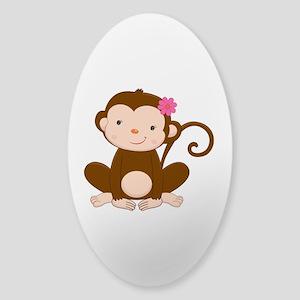 Baby Monkey Sticker (Oval)