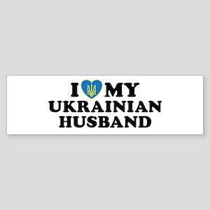 I Love My Ukrainian Husband Bumper Sticker