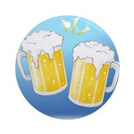 Beer Lover Gear Ornament (Round)