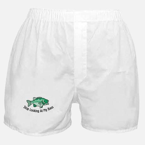 Stop Looking At My Bass Boxer Shorts