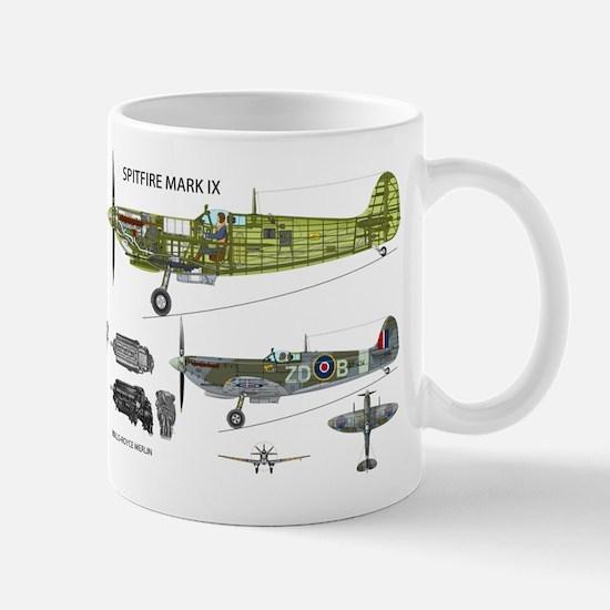 Supermarine Spitfire Cutaway Mug