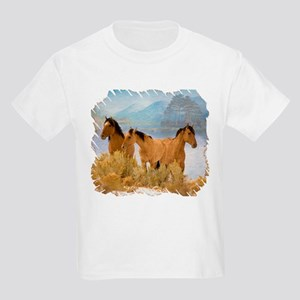 Buckskin Horses Kids Light T-Shirt