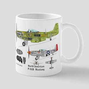 P-51 Mustang Cutaway Mug