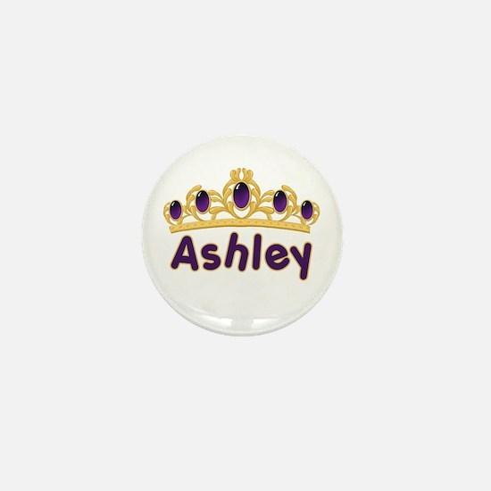 Princess Tiara Ashley Personalized Mini Button