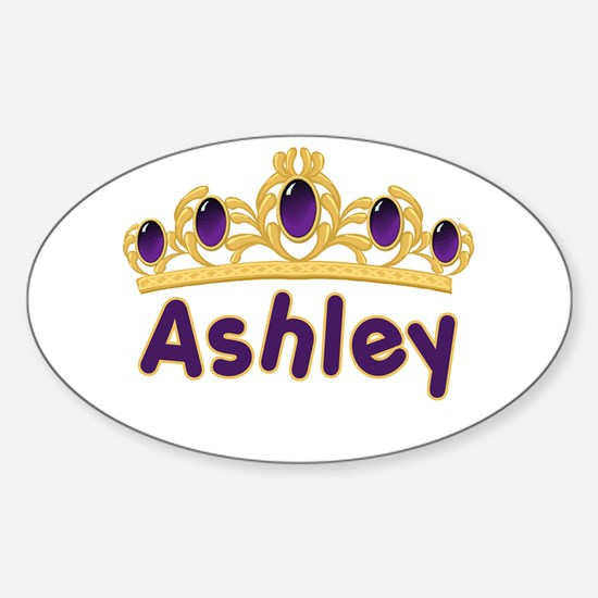 Princess Tiara Ashley Personalized Oval Decal