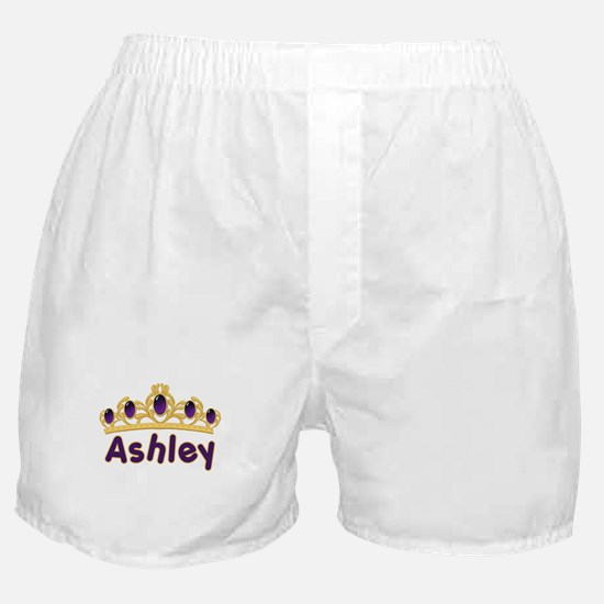 Princess Tiara Ashley Personalized Boxer Shorts