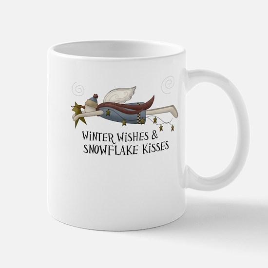 Winter Wishes Snowflake Kisses Small Mugs