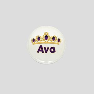 Princess Tiara Ava Personalized Mini Button