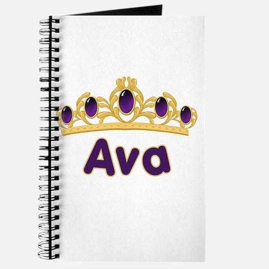 Princess Tiara Ava Personalized Journal