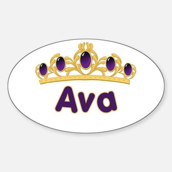 Princess Tiara Ava Personalized Oval Decal