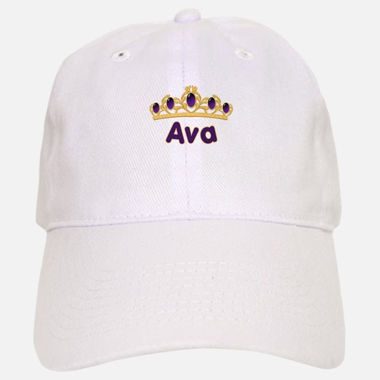 Princess Tiara Ava Personalized Baseball Baseball Cap