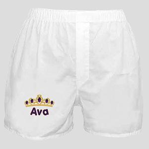 Princess Tiara Ava Personalized Boxer Shorts
