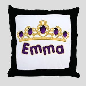 Princess Tiara Emma Personalized Throw Pillow