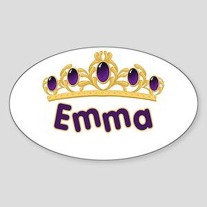 Princess Tiara Emma Personalized Oval Sticker