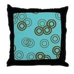 Fading Circles Throw Pillow