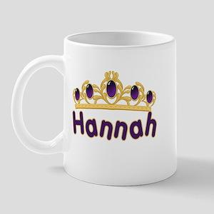 Princess Tiara Hannah Personalized Mug