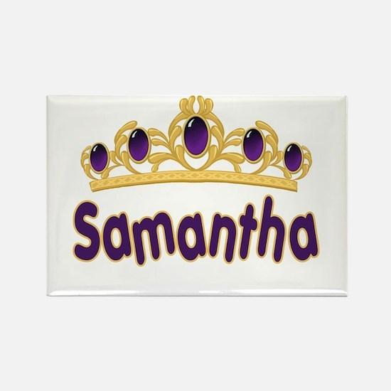 Princess Tiara Samantha Personalized Rectangle Mag