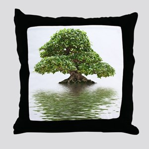 ficus water reflection Throw Pillow