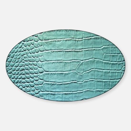 Faux Crocodile Skin graphic Sticker (Oval)