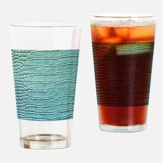 Faux Crocodile Skin graphic Drinking Glass