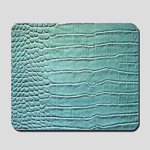 Faux Crocodile Skin graphic Mousepad