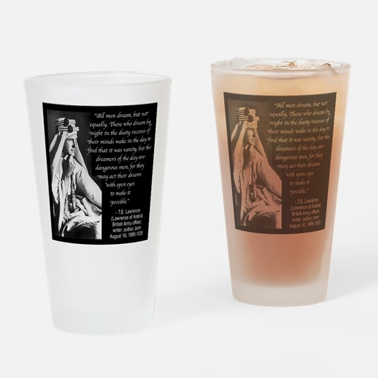 Lawrence Dream Quote Drinking Glass